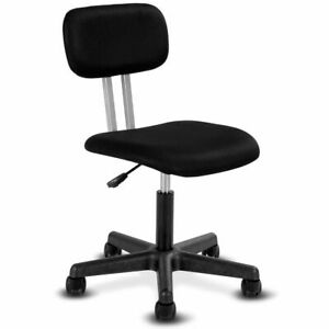 Armless Mid back Mesh Office Chair Swivel Height Adjustable Office Desk Task