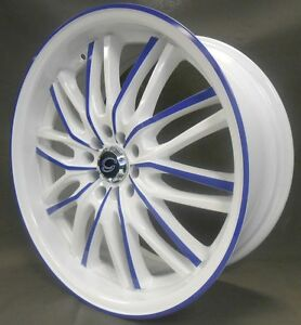 17 Inch White Diamond 3108 Wheel Rims Tires 5 X 100
