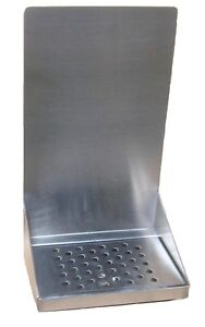Draft Beer Tower Wall Mount Drip Tray 8 L w S s grill Drain Dtwm8ss