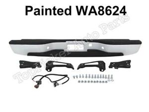 Painted Summit White Wa8624 Rear Bumper Assy For 99 07 Silverado Fleetside 1500