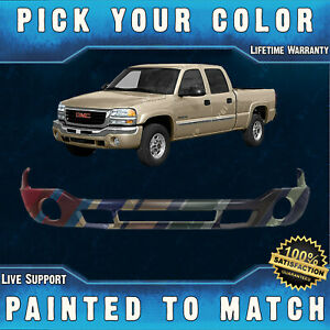 Painted To Match Front Bumper Lower Valance For 2003 2007 Gmc Sierra 1500 2500hd