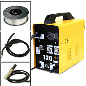 120amp Mig 120 110v Flux Core Welding Machine Welder Spool Wire Auto Feed Fan
