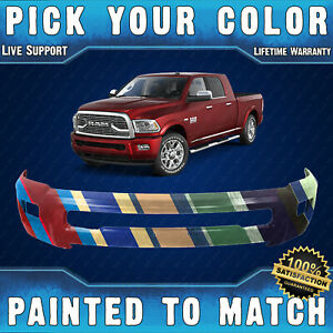New Painted To Match Steel Front Bumper Shell For 2010 2018 Ram 2500 3500 W Fog