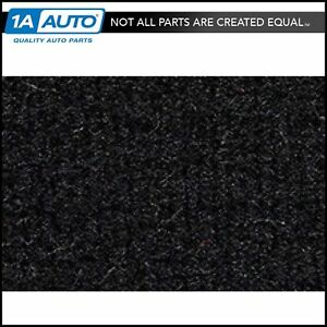 For 1987 89 Chevy Beretta Cutpile 801 black Complete Carpet Molded