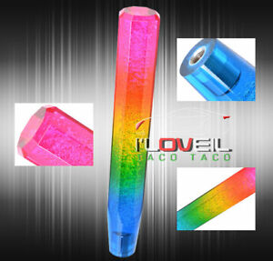 Rainbow Crystal Style Universal Mini Bubble Shift Knob 300mm For Lexus Nissan