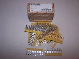 Weidmuller 1758260000 Terminal Jumper Bars Zqv 4n 10 Ge Lot Of 20 New In Box