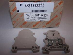 Weidmuller 1011300001 Fusible Terminal Block Wsi6 ld10 36vac dcll New Lot Of 5