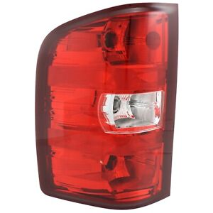 Halogen Tail Light For 2007 2013 Chevy Silverado 1500 Left Clear Red W Bulbs