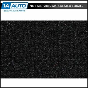 For 1976 Chevy Malibu 4 Door Cutpile 801 Black Complete Carpet Molded