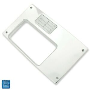 68 69 Chevy Camaro Billet Aluminum Console Top Plate 6 Speed Manual Polished