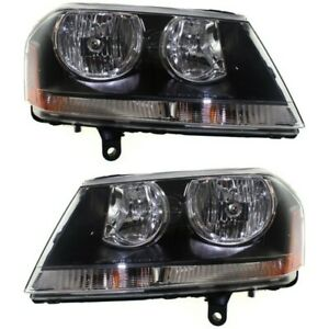 Black 08 14 For Dodge Avenger Headlights Headlamps Replacement 08 14 Left Right