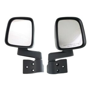 Manual Side View Mirrors Folding Pair Set New For 03 06 Jeep Wrangler