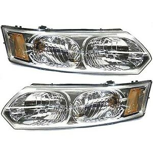 Headlight Set For 2003 2007 Saturn Ion Left And Right With Bulb 2pc