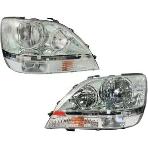 Headlight Set For 2001 2002 2003 Lexus Rx300 Left And Right With Bulb 2pc