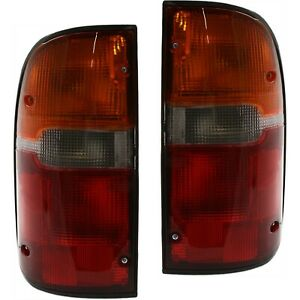 Set Of 2 Tail Light For 95 2000 Toyota Tacoma Lh Rh W Bulb s