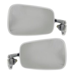 Set Of 2 Mirror Manual For 1968 1977 Volkswagen Beetle Left Right Chrome