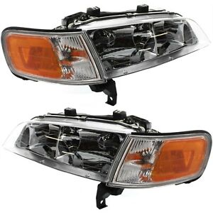 Headlight Set For 94 95 96 97 Honda Accord Left And Right With Bulb 2pc