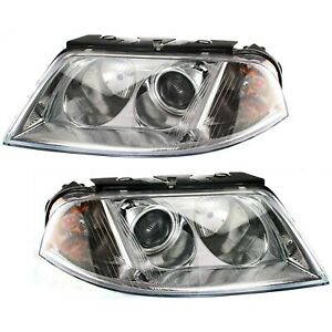 Headlight Set For 2001 2005 Volkswagen Passat Left And Right With Bulb 2pc