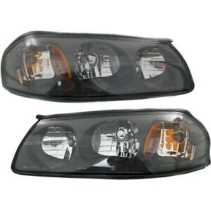 Headlight Set For 2000 2004 Chevrolet Impala Left And Right With Bulb 2pc