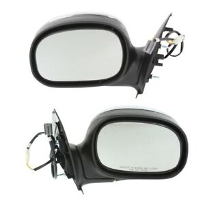 Power Mirror Set Of 2 For 1997 2003 Ford F 150 Chrome Left And Right Manual Fold