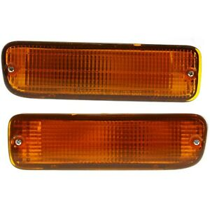 Turn Signal Light For 95 2000 Toyota Tacoma Plastic Lens Left Right Set Of 2
