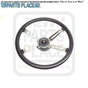 1970 77 Cutlass 442 4 Spoke Steering Wheel Complete With Brushed Spokes