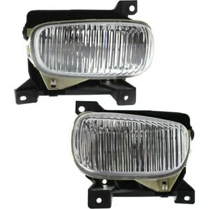 Set Of 2 Clear Lens Fog Light For 2000 06 Toyota Tundra Lh Rh Capa W Bulbs