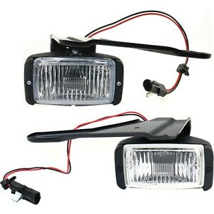 Set Of 2 Clear Lens Fog Light For 88 97 Chevrolet C1500 Lh Rh Capa W Bulbs