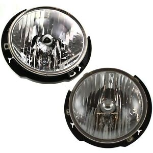 Headlight Set For 2007 2017 Jeep Wrangler jk Left And Right With Bulb 2pc