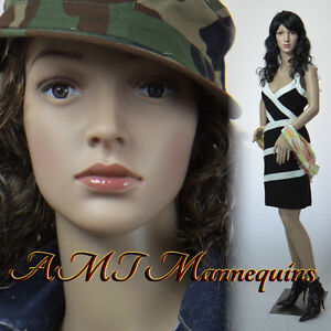 Female Display Mannequin On Sale durable Plastic Manikin p8 2freewigs