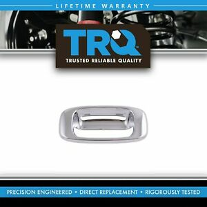 Rear Chrome Tailgate Handle Bezel Only For Gmc Chevy Pickup Truck 1500 2500 3500