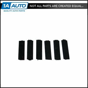6 Pc Anti Window Rattle Guide Pad Set Kit For Regal Camaro Firebird Grand Prix