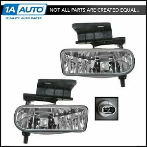 Fog Driving Lights Lamps Left Right Pair Set For Silverado Suburban Tahoe