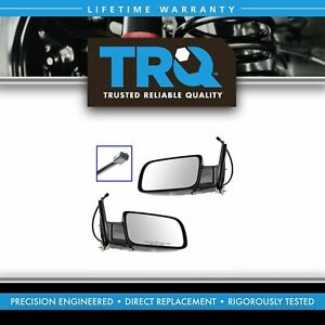 Trq Mirrors Power Black Folding Left right Pair Set For Chevy Gmc Pickup Truck