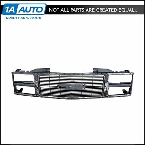 Grille Grill Chrome Front End For Gmc C K 1500 2500 3500 Suburban Yukon