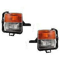 Set Of 2 Clear Amber Lens Fog Light For 2003 07 Cadillac Cts Lh Rh Capa