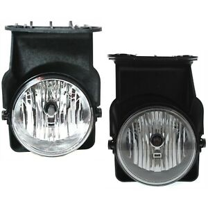 Set Of 2 Clear Lens Fog Light For 2005 07 Gmc Sierra 1500 Lh Rh W Bulbs