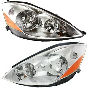 Headlight Set For 2006 2010 Toyota Sienna Left And Right With Bulb 2pc