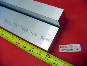 2 Pieces 1 X 2 Aluminum 6061 Flat Bar 36 Long Solid 1 000 Plate Mill Stock
