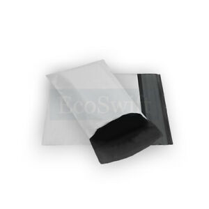 4000 4x6 White Poly Mailers Shipping Envelopes Self Sealing Bags 2 35 Mil 4 X 6