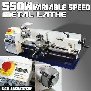 7 X 14 Lcd 550w Mini Precision Metal Lathe 2500rpm Variable Speed Mini Lathe 3 4