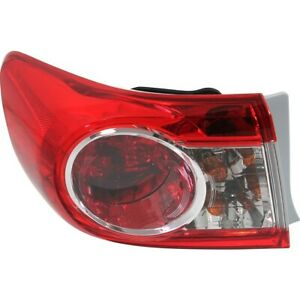 Tail Light For 2011 2013 Toyota Corolla Usa Built Assembly Left