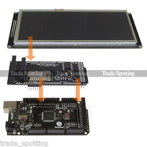 Sainsmart Mega2560 R3 7 480x800 Tft Lcd Shield Extend Board For Arduino