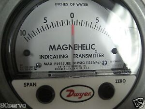 Dwyer Magnehelic Gage 171664 10 0 10 Inches Of Water 4 Dia 4 20ma Output