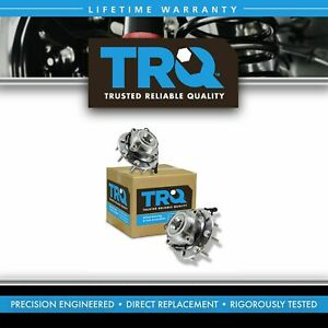 Trq Front Wheel Hub Bearing Pair Set For Chevy Gmc Truck 8 Lug 4x4 4wd W Abs