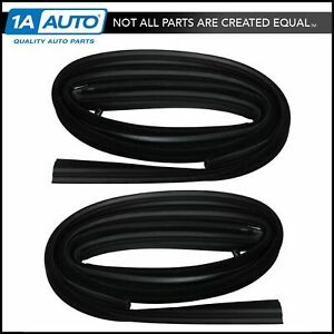 Front Door Glass Run Channel Weatherstrip Seals Pair For Chevy Gmc Pickup Truck