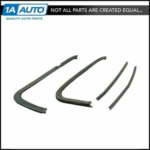 Vent Window Rubber Weatherstrip Seal Pair Set Of 4 For Gmc 1500 2500 Chevy C K