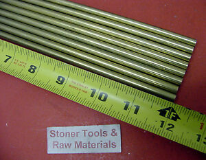 20 Pieces Of 1 4 C360 Brass Solid Round Rod 12 Long 25 H02 Lathe Bar Stock