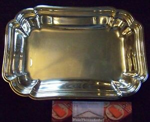 Reed Barton Chadwick Exlg Open Entree Or Bread Serving Dish Tray Has Fancy Rim