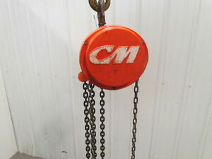 Cm Columbus Mckinnon 1 Ton Manual Chain Fall Hoist 19 Lift 2000 Lb Capacity